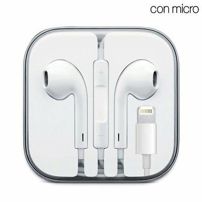 Auriculares Blancos Con Micro IPHONE 7 / 8 / X XR XS Max iPad Lightning Cable