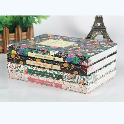 Cute PU Leather Floral Flower Schedule Book Diary Weekly Planner Notebook Gift