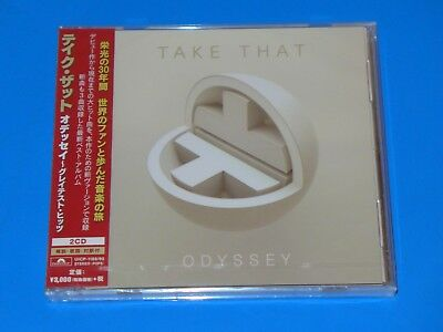 2018 JAPAN TAKE THAT ODYSSEY THE GREATEST HITS w/3 NEW SONGS 2 CD SET