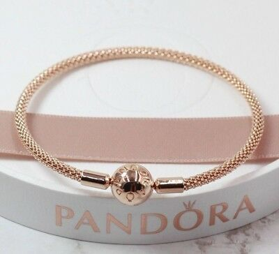 948533812 Pandora Rose - 19 cm - Moments Rose Mesh Bracelet - 586543 + Pandora Box