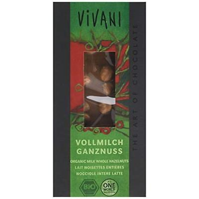 Vivani Organic Milk Chocolate with Hazelnuts 100 g (Pack of 5)