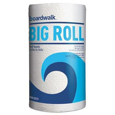 """Boardwalk 6211 Household Perforated Paper Towel Rolls, 2-ply, White, 9"""" X 11"""","""