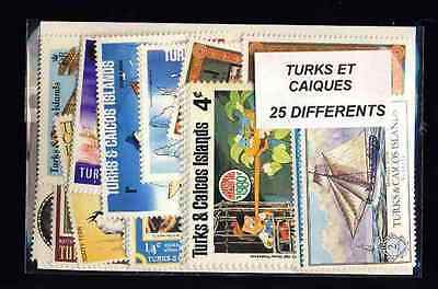Turks and Caicos - Turks and Caicos Islands 25 stamps different