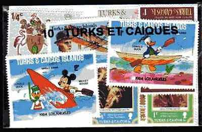 Turks and Caicos - Turks and Caicos Islands 10 stamps different