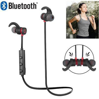 Magnet Wireless Handfree Sports Earphone Headset Headphone For iPhone Samsung