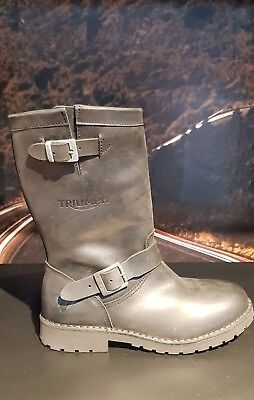 Triumph Highway Iii Leather Motorcycle Boots 25% Off!!