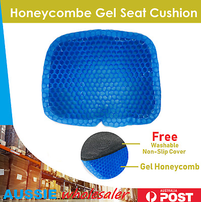 Gel Honeycomb Seat Egg Cushion Flex Back Support Spine Protector AU Stock