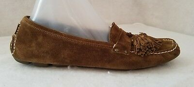 900699c4dd9 J Crew Italy Women Shoes Size 8 Driving Mocs Flat Loafers Brown Suede  Leather