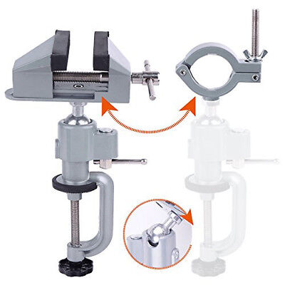 360 Degree Bench Clamp Vises Grinder Holder Drill Stand for Rotary Tool