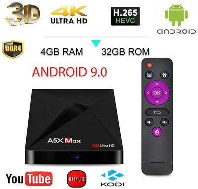TV BOX X88 MAX Android 9.0 4GB RAM 64GB 4K IPTV 4 CORE 2.4/5 ghz WIFI RK3328
