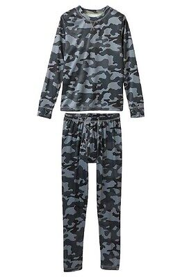 Climatesmart Little Boys' Comfortech Poly Base Layer Tee & Pants NEW XS 4/5 CAMO