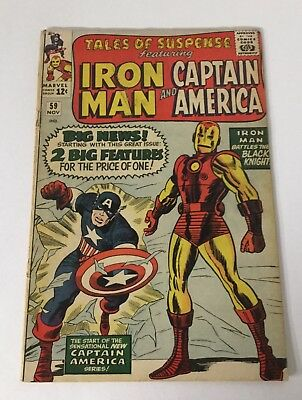 Tales Of Suspense 59 2.0 Gd Good Cover Detached Marvel SA