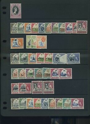 Basutoland  early QE II fine MLH collection inc   defin sets