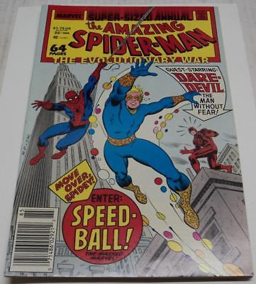 AMAZING SPIDER-MAN ANNUAL #22 (Marvel 1988) 1st appearance of SPEEDBALL (VF-)