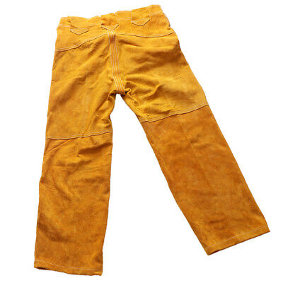 Leather Welding Pants +Trousers Protective Clothing Apparel Suit for Welder