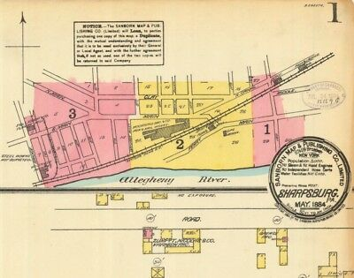 Sharpsburg, Pennsylvania~Sanborn Map©~19 map sheets~in full color