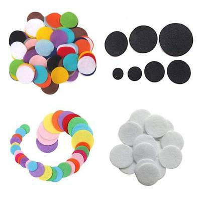 Assorted Colours and Sizes of Round Felt Discs Craft Scrapbook Card Making