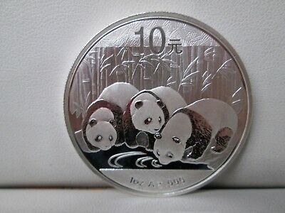2013 Chinese Panda .999 Silver 1 Ounce 10 Coin