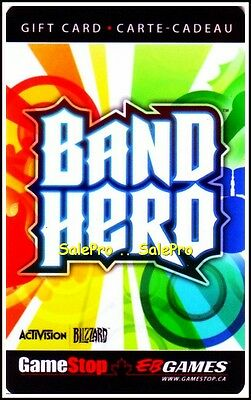 Eb Games Gamestop Band Hero Music Dance Game Limited Fr/en Collectible Gift Card