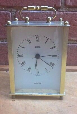 Smiths Brass Carriage Clock Made In The Uk 12Cms High In Good Working Order