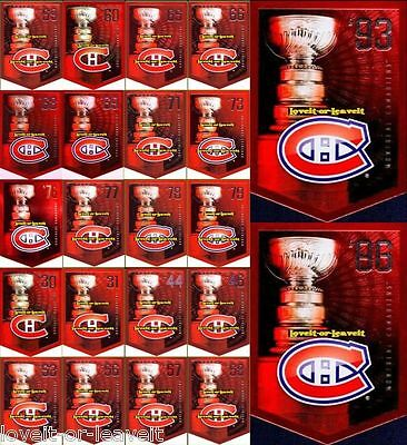 22x MONTREAL CANADIENS COORS LIGHT 2012 PANINI STANLEY CUP COMPLETE BANNER SET