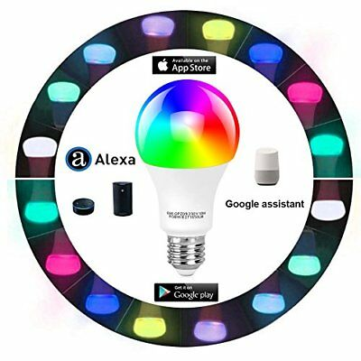 Tonbux Alexa Smart LED Bulb Work with Echo and Google Home No Hub Required WiFi