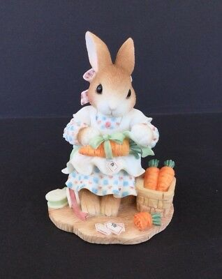 """My Blushing Bunnies """"Share Your Blessings With All"""" 1998 Priscill Hillman Enesco"""