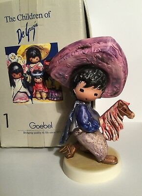 "Goebel Children of Degrazia Figurine ""My First Horse"" 10 312 W Germany 1983, Box"