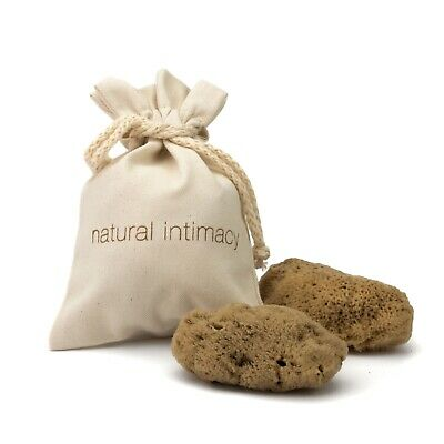 IntimateCare Sea Sponges - 2x Large - Unbleached - In Organic GOTS Cotton Bag