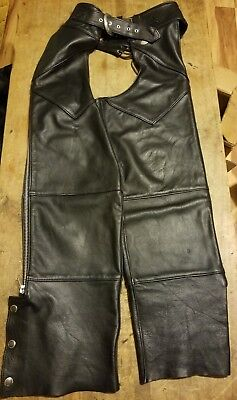 Harley Davidson Heavy Duty Leather Chaps Mens Small