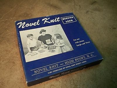 Old Novel Knit Weaving Loom in Box with Instructions & Hook
