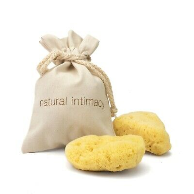 IntimateCare Sea Sponges - 2x Large - Bleached - In Organic GOTS Cotton Gift Bag
