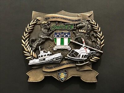 Nypd Special Operations Division Land Air And Sea Challenge  Coin