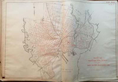 1888 Distribution Mains Of The New Haven Connecticut Gas Light Co. Atlas Map