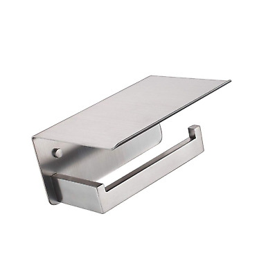 Stainless Steel Toilet Paper Holder with Phone Shelf, APL Bathroom Accessories