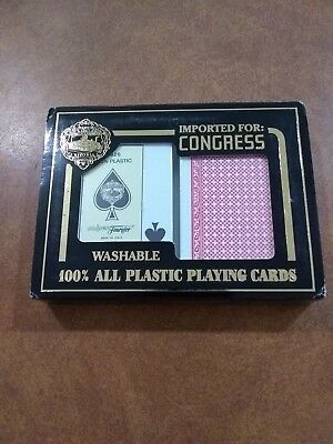 Fournier 2826 100% Plastic Playing Cards 2 Deck Pack