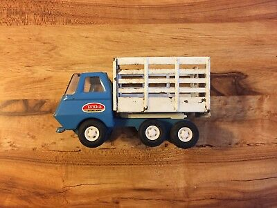 Vintage Tonka Pressed Steel, Stake-Side Dump Truck Made in USA, Good Condition