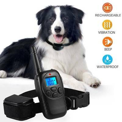 AntiBark Collar Train LCD Electric Remote Dog Training Shock Collar Rechargeable