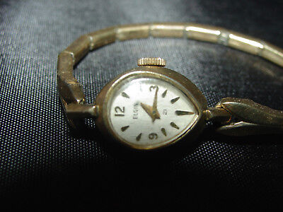Vintage Elgin Mechanical Watch Jewelry Womans 10K Gold Filled R.G.R~needs work