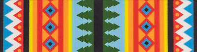 Country Brook Design® 3/4 Inch Summer Pines Polyester Webbing, 5 Yards