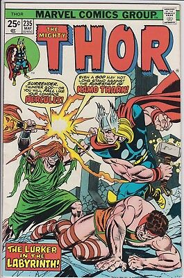 """Thor 235 """"The Lurker in the Labyrinth!"""" . MVS  intact. Bronze Age cents issue"""