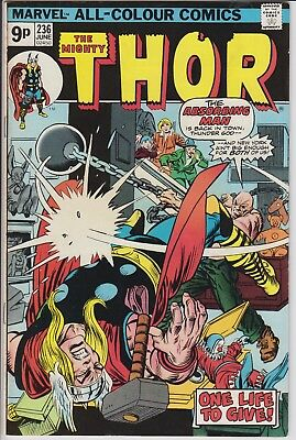 """Thor 236 """"One Life to Give!"""" Bronze Age pence issue"""