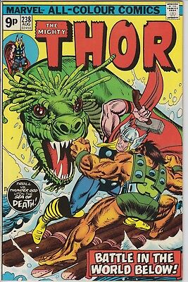 """Thor 238 """"Battle in the World below!"""" . MVS  intact. Bronze Age pence issue"""