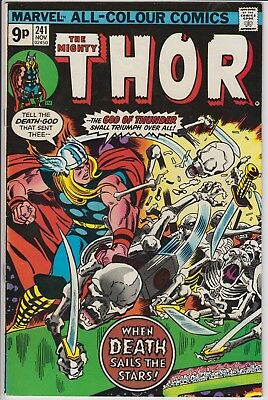 """Thor 241 -  """"When Death Sails the Stars!"""". Bronze Age pence issue"""