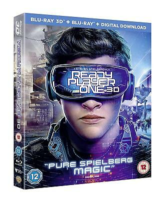 Ready Player One (3D + 2D Blu-ray, 2 Discs, Region Free) *NEW/SEALED*