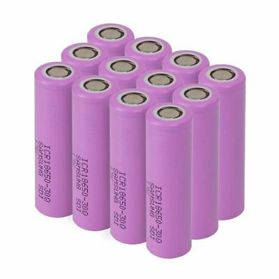 Lot Samsung 18650 30Q 3000mAh High Drain  Rechargeable Vape Battery with Case