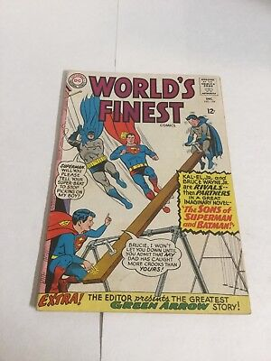 Worlds Finest 154 Vg+ Very Good+ 4.5 DC Comics Silver Age