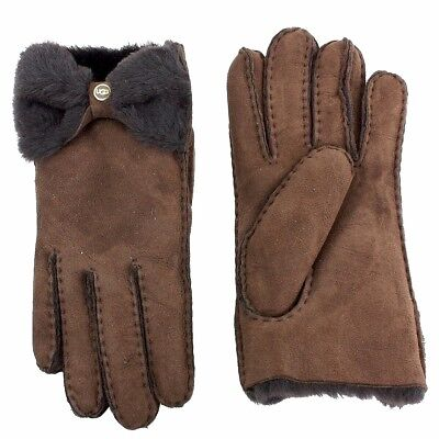 Ugg Women's Classic Bow Shorty Winter Fur Lined Gloves