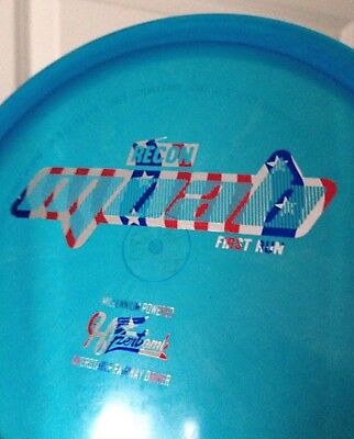NEW! Hyzerbomb 1st run Recon MOAB in BLUE w/ Flag stamp @ 180 disc golf innova