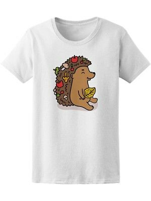 Cute Hand Drawn Holiday Hedgehog Women's Tee -Image by Shutterstock